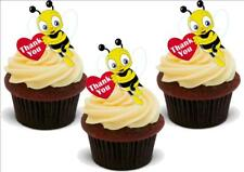 THANK YOU BUSY BUMBLE BEE 12 Standup Premium Wafer Cake Toppers