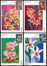 1997 Vietnam Eight Orchid Postcard S36