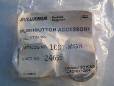 Sylvania 100T-MGR Guard Ring & Lens fits any Standard Pushbutton NEW!! Free Ship