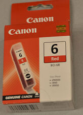(PRL) CANON BCI-6R CARTUCCIA INCHIOSTRO INK CARTRIDGE ORIGINAL RED ROSSO