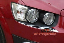 Chrome Head light Eyelid Lines trim FOR Chevy AVEO Sonic 2012 2013 2014 2015