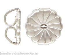 2x 925 Sterling Silver Earring Butterfly Backs Swirl Scrolls Large 7mm x 7.2mm