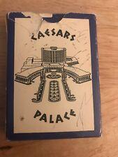 Caesar's Palace 1966 Playing Cards Vintage Blue White Las Vegas Casino USED RARE