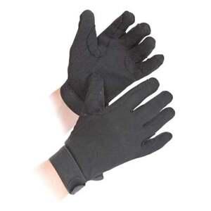 Shires Children's Newbury Horse Riding Gloves - Black - Medium - Pimple Grip