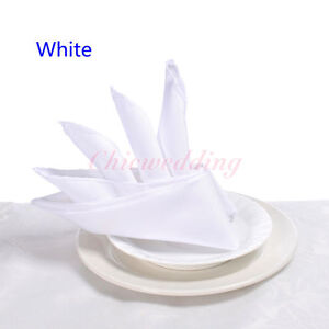 "50 Pcs 20"" Inch Polyester Napkin Wedding Party Table Decorations Supply"