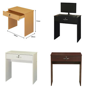 Computer Desk with Key Lock Drawer Corner Table for Home Office durable storage