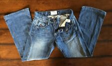 Steven Jeans Energie 28X29 Boot Cut Jean'Session Worn Out D-stressed Button Fly