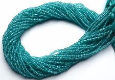 """Natural Gem Green Apatite 3MM Micro Faceted Rondelle Beads 13"""" Strand"""