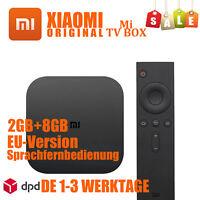 Xiaomi Mi TV Box 4K 2GB 8GB Schwarz Set Top Android Streaming Dual WiFi NEU OVP