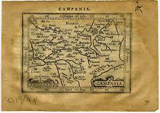 1609 Genuine Antique miniature map France. Paris. Seine River. by A. Ortelius