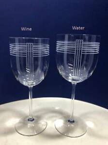 Crystal Wine & Water Glasses by Ralph Lauren Randolph Pattern -Selling Per Glass