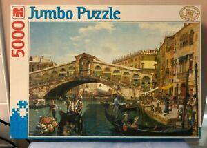 COMPLETE RARE Vintage - Jumbo Puzzle - 5000 Piece of Rialto Bridge Venice.