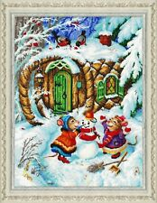 """Bead Embroidery kit GOLDEN HANDS J-023 - """"Funny mice"""""""