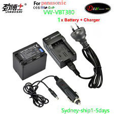 Charger+ Battery for Panasonic VW-BC10E VW-VBT190 VW-VBT380 HC-W570 V770 AU-ship