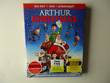 Arthur Christmas (Blu-ray/DVD, 2012, 2-Disc Set) NEW w/slipcover