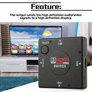 mini Switcher definition video 3 Port HDMI Switch Splitter for HDTV PS3 1080P GN