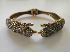 Stella & Dot Pave Lark cuff bracelet RRP £78 antique gold sparkle bird gift box