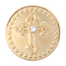 Ginger Snap - Gold Metal Cross w/ Stone Buy 4, Get 5th $5.95 Snap Free - Petite