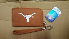 Texas Longhorns Hookem ID Wallet Wristlet Cell Phone Case Charm 14 Purse