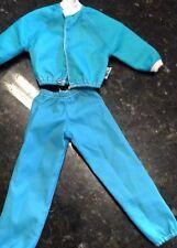 Ken doll Barbie Fashions  doll 1970's blue active wear jogging suit Track Suit
