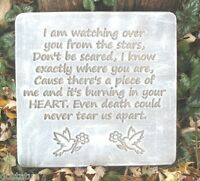 Memorial stepping stone plastic mold concrete plaster mould I am watching