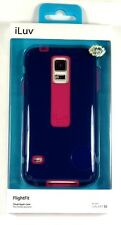 SS5FLIFBL ILUV Samsung Galaxy S5/V FlightFit Dual-Layer Case (Blue), Retail