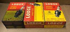 CTN18P Lodge Vintage Spark Plugs 18mm Tapered Set of 36 NOS (U4)