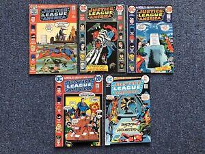 Justice League Of America #90 101 103 105 118 Mid Grade DC Bronze Age Comic Lot