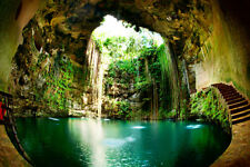 10x8FT Vinyl Studio Backdrop Photography Background Mexico Cenote Cave Scenery