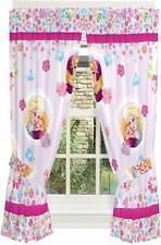 Disney Frozen Kids Bedroom Window Curtain Panels With Tie Backs 100% Polyester