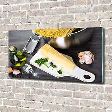 Glas-Bild Wandbilder Druck auf Glas 140x70 Deko Essen & Getränke Pasta Knoblauch