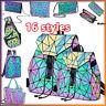 丶Hot Geometric Backpack Holographi Backpacks Reflective Bag Luminesk Irredescent