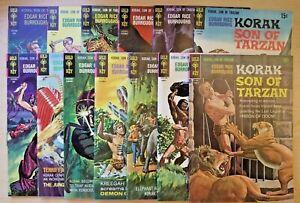 Korak Son of Tarzan issues 14 & 18-29 (Gold Key 1966 comic run/lot)