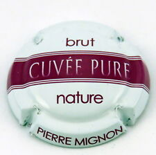 MIGNON  PIERRE  N°53p  Cuvée  Pure , Fond  BLANC , Barre FUSCHIA