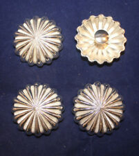 "Conchos - 1.50"" Silver Flower - Chicago Screw - Set of 2 (C27)"