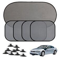 5Pcs Car Side Rear Window Sun Shade Driving UV Protector Mesh Visor+Suction Cups
