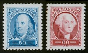 #3139a & 3140a 50c Franklin & 60c Washington, Mint **ANY 5=FREE SHIPPING**