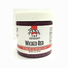 Top Performance Pet Hair Dye Gel VAMPIRE RED 40z