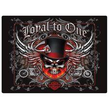 """Loyal to One Skull"" Harley-Davidson Tin Sign Embossed Garage 481"