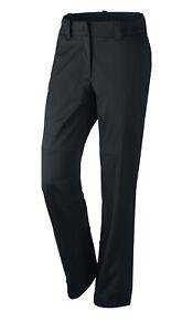 NWT Nike Golf Womens HYPERSHIELD Rain Wind Pants Black Zip Pocket 620145-010 S