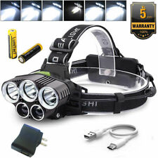 90000LM 5 T6 LED Rechargeable Headlamp USB Head Torch Headlight Flashlight BRIGH