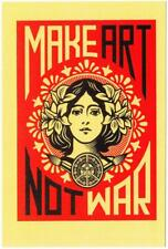 Make Art Not War by Shepard Fairey Postcard