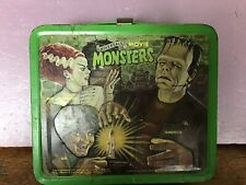 New Listing1979 Universal Movie Monsters Lunchbox W/Thermos Wolfman Frankenstein Dracula
