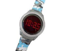 Orologio Da Polso Touch Led Watch Orario Rosso Fashion Moda Camouflage Azzu lac