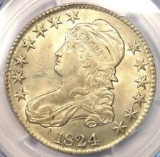 1824 Capped Bust Half Dollar 50C Coin - PCGS Uncirculated Details (BU MS UNC)!