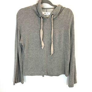 Workshop Republic clothing bell sleeve gray hoodie S