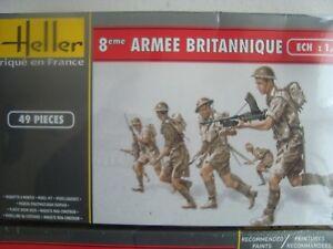 HELLER COFFRET  PETITS SOLDATS BRITANNIQUE 8 EME ARMEE  WW2 1/72°