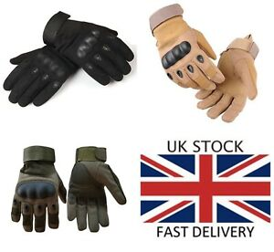 Hard Knuckle Glove Tactical Army Military Combat Airsoft Paintball Hunt Shoot