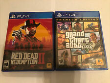 New listing Grand Theft Auto 5 & Red Dead Redemption 2 Lot- Ps4 Action Adventure Sony