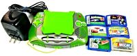 Leap Frog Pink Purple Leapster Handheld Learning System Game Console + 6 Games+